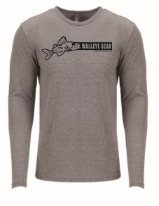 Walleye Gear Long-Sleeve Unisex Shirt - Gray