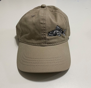 Walleye Gear Khaki Walleye Hat